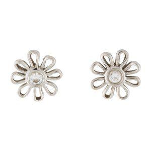 Tiffany & Co Daisy Earrings Platinum, Diamond